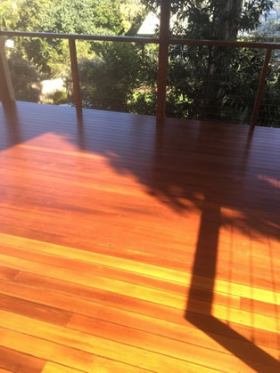 Afternoon Light on Deck Sanded and DWD Intergrain Applied