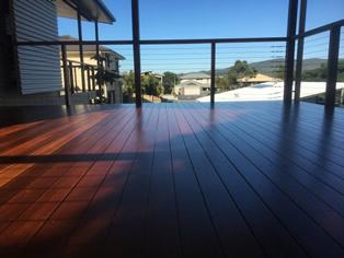 Deck Sanded and DWD Intergrain Applied