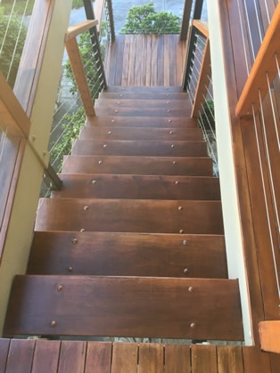 Stairs ReSanded & DWD Intergrain Applied