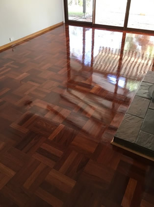 Parquetry Re Sanded and Polish